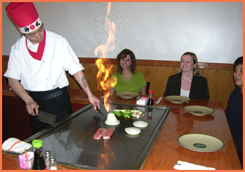 Cook Preparing Flaming Volcano